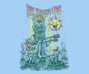 illustration, psychedelic, and band tees image