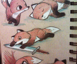 adorable, cute, and fox image