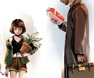 leon, mathilda, and movie image