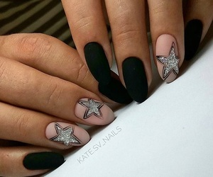 manicure, mat, and nails image