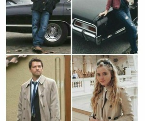 dean winchester, claire novak, and spn image