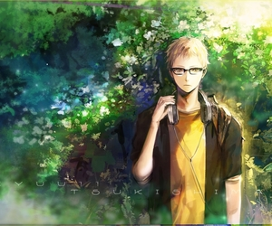 haikyuu, anime, and tsukishima kei image
