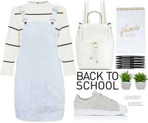 Blanc, outfit fashion, and blue image