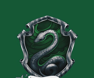 wallpaper, harry potter, and slytherin image