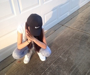girl, nike, and grunge image