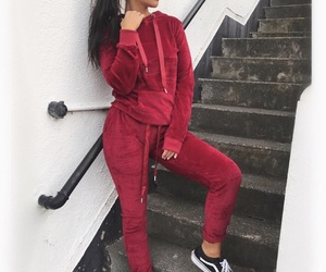 fashion, tracksuit, and vans image