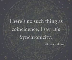 quote, love, and synchronicity image
