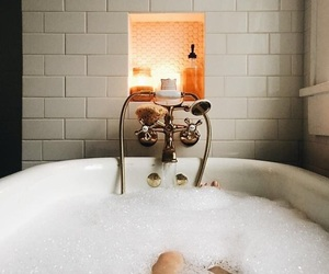 bath, cozy, and fall image