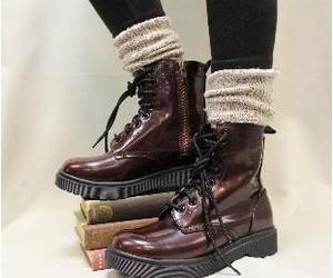 boots, tweed, and combat image