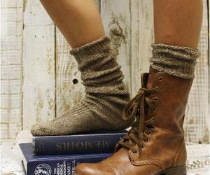 boots, combat, and fall image