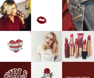 Collage, red, and skam image