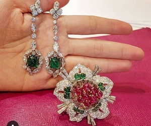 emerald, expensive, and floral design image