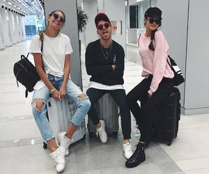 airplane, travel, and fashion image