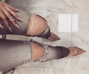 jeans, luxury, and nails image