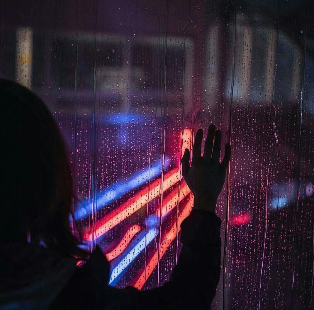 rain and lights image