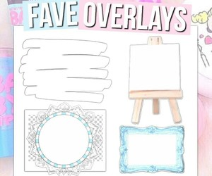 overlays, piccollage, and editing needs image