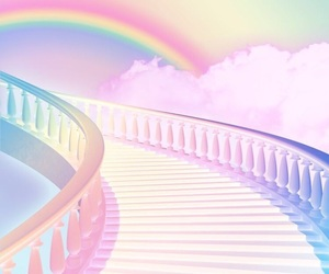 rainbow, pastel, and pretty image