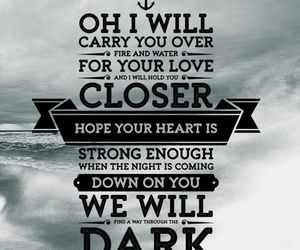 Lyrics, quote, and song image