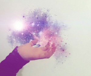 be yourself, galaxy, and magic image