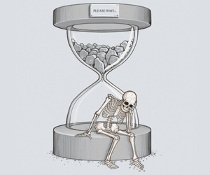 dead, illustration, and skeleton image