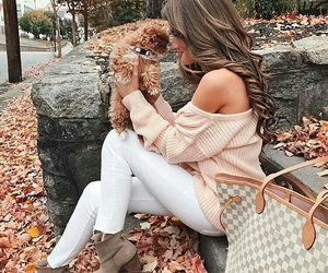 autumn, bag, and clothes image