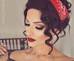 50's, 50's style, and makeup image