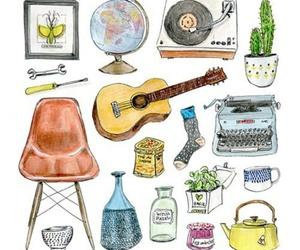 bottle, cactus, and decor image