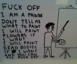art, fuck off, and text image