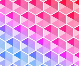 hexagon, geometric, and gradient image