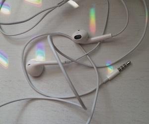 rainbow, music, and white image