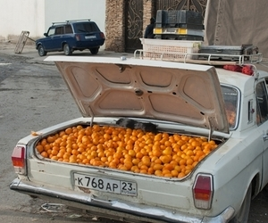 car, vintage, and fruit image