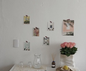 decor, flowers, and light image