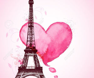 background, paris, and pink image