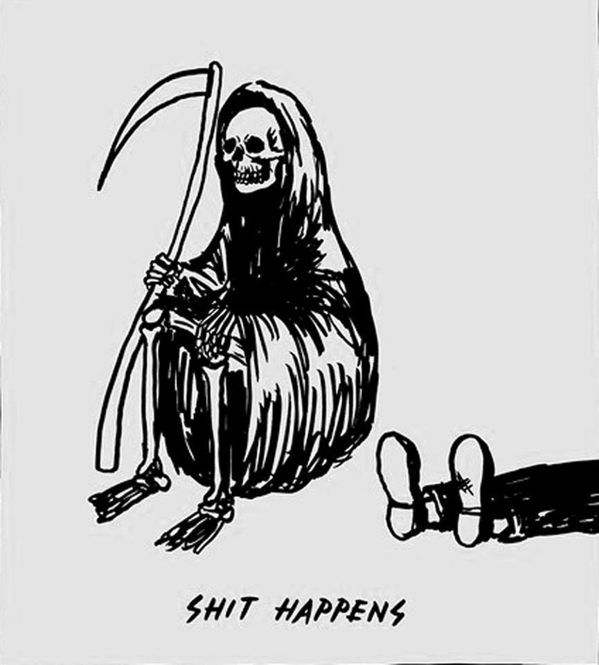 death, shit happens, and funny image