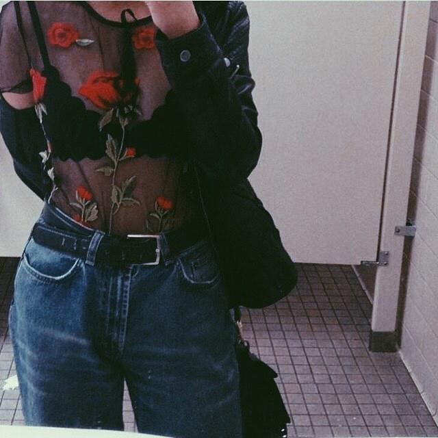 fashion, rose, and style image