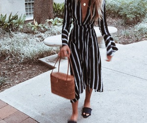 dress, fashion, and stripes image