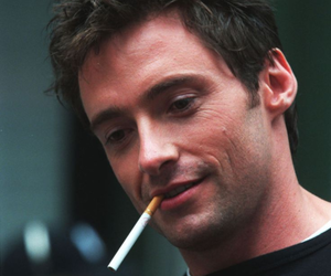 hugh jackman, cigarette, and actor image