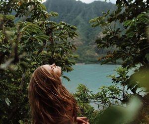 nature, hair, and green image