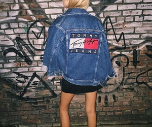 tommy hilfiger, jacket, and jeans image