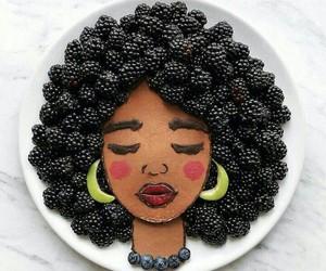 food, girl, and art image