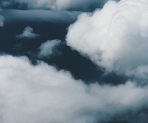 airplane, cloud, and clouds image