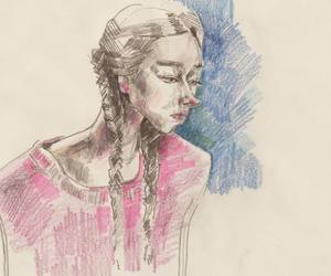 art, artwork, and girl image