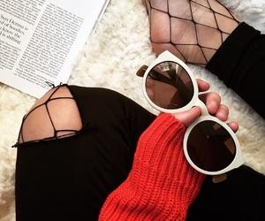 blog, fashion, and fishnet image