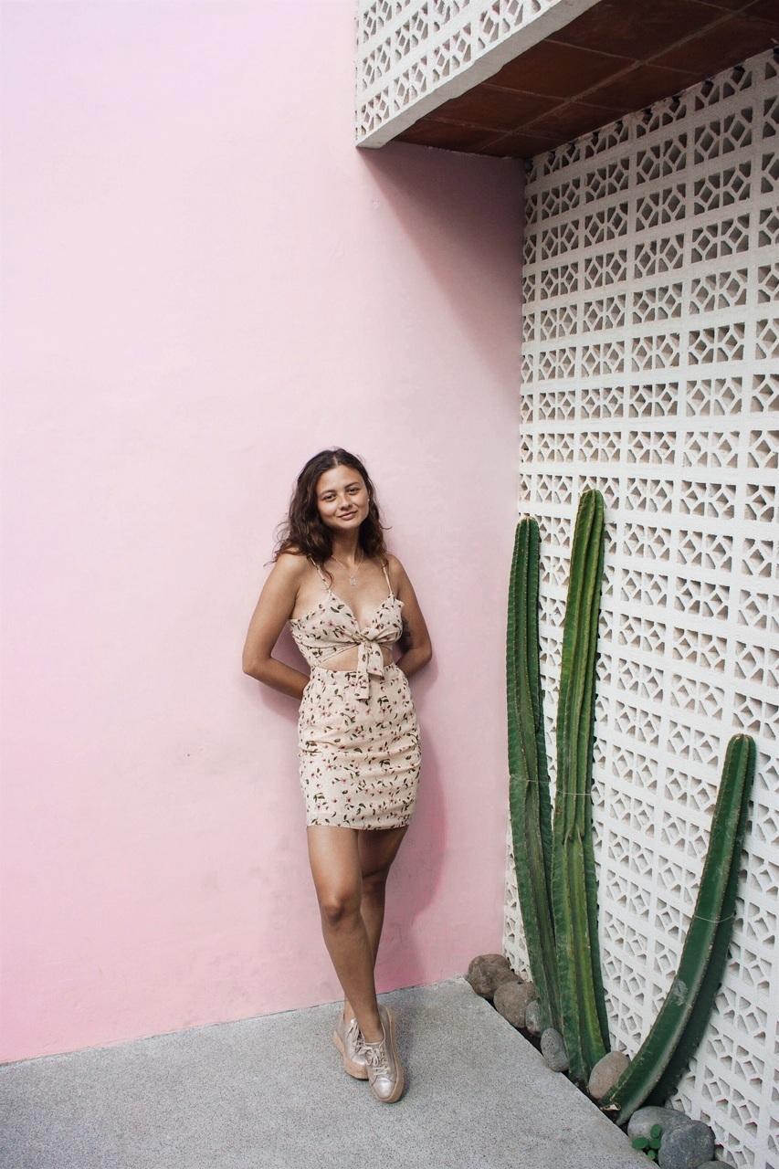 bali, brunette, and dress image