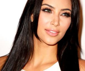 eyes, kim kardashian, and lips image
