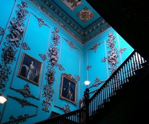 blue, castle, and interior image