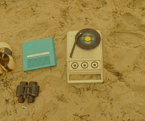 moonrise kingdom, beach, and vintage image