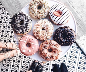 food, donuts, and delicious image