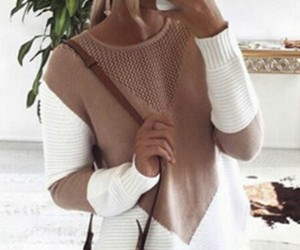 design, knitted, and sweater image
