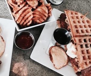 food, theme, and waffles image